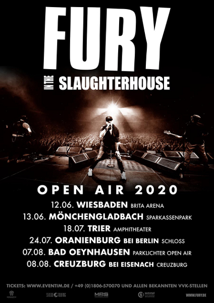 Fury In The Slaughterhouse Tour 2020