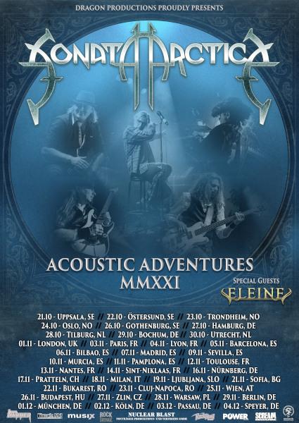 SONATA ARCTICA: Akustik-Album und Tour im Herbst