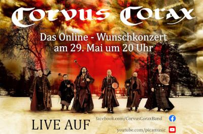 CORVUS CORAX: Online-Wunschkonzert am 29. Mai