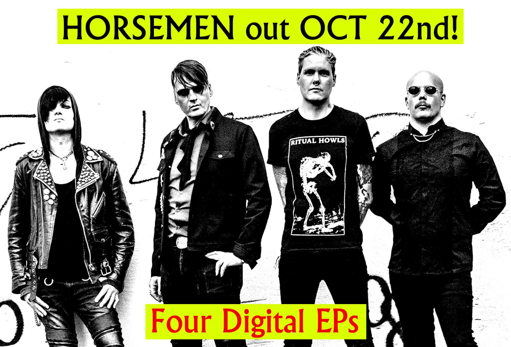 THEN COMES SILENCE: HORSEMEN: 4 EPs mit insgesamt 17 Coversongs erscheinen am 22. Oktober 2021