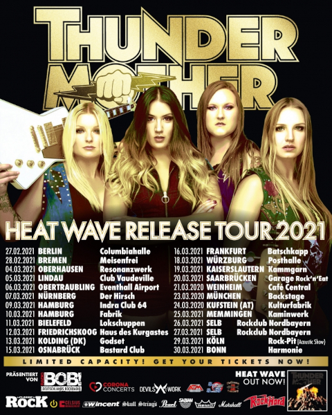 Thundermother Heat Wave Tour 2021